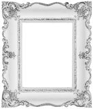 White baroque frame Royalty Free Stock Images