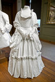 White baroque style clothes at Hampton Court Stock Photography