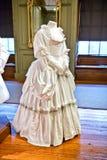 White baroque style clothes at Hampton Court Stock Image