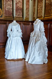 White baroque style clothes at Hampton Court Royalty Free Stock Photography