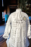 White baroque style clothes at Hampton Court Royalty Free Stock Images