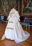 White baroque style clothes at Hampton Court Stock Photo