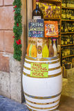 White barrel outside a restaurant in italy royalty free stock photo