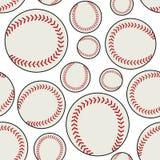 White Baseball Ball Seamless Pattern Stock Photography