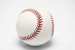 White baseball ball on a white background Stock Photo