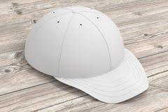 White baseball cap isolated