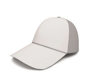 White baseball cap for your design Stock Images