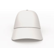 White baseball cap for your design front view. On white background. 3d render image Stock Image