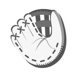 White baseball glove, graphic Royalty Free Stock Images