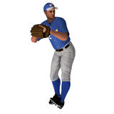 White Baseball Pitcher. White 3D Baseball Pitcher ready for the action Stock Photos
