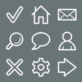 White basic web icons Royalty Free Stock Images