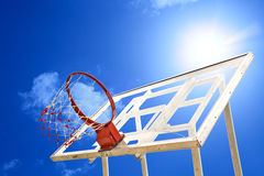 White Basket ball board Stock Photos