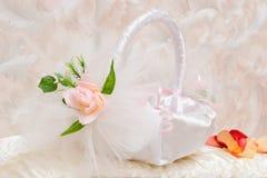 White Basket For Souvenirs Stock Photo