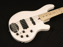 White Bass Guitar body 2 Stock Image