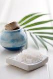 White bath salt Stock Images