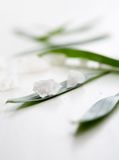 White bath salt Royalty Free Stock Photo