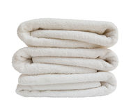 White bath towels Stock Image