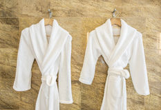 White bathrobe Royalty Free Stock Photos