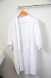 White bathrobe Stock Image