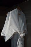 White bathrobe Royalty Free Stock Photo