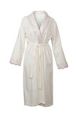 White bathrobe Stock Images