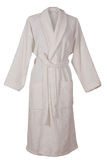 White bathrobe. A packed bathrobe, isolated on a white background Royalty Free Stock Images
