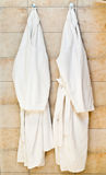 White bathrobes Royalty Free Stock Photography