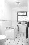 White Bathroom. In UK home Stock Images