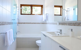 White Bathroom Stock Image