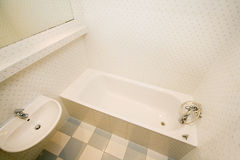 White bathroom Royalty Free Stock Image