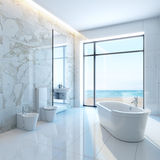 White bathroom Royalty Free Stock Photo