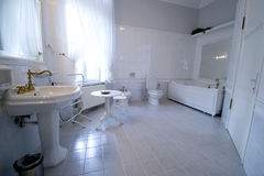 White bathroom Royalty Free Stock Images