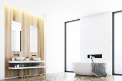 White Bathroom And A Window Corner Royalty Free Stock Photo