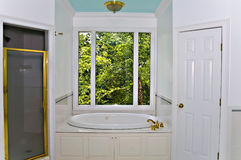 White Bathroom Interior Stock Images
