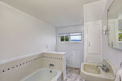 White bathroom interior in old house Stock Image