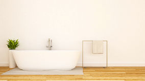 White bathroom minimal design-3D Rendering Royalty Free Stock Images