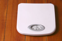 White bathroom scale Royalty Free Stock Photography
