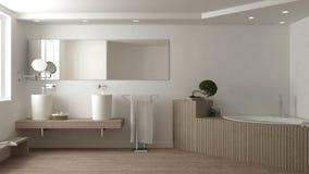 White bathroom, spa, interior design. White bathroom, spa, white interior design Royalty Free Stock Images