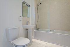 White bathroom suite Royalty Free Stock Images