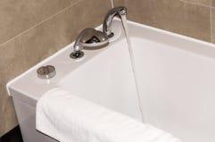White bathtub in the bathroom Stock Photo