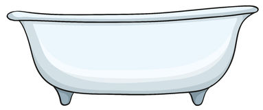 White bathtub Royalty Free Stock Photography