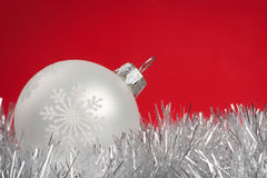 White bauble Royalty Free Stock Images
