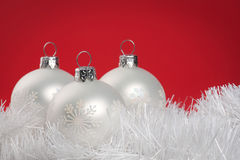 White baubles Royalty Free Stock Photos