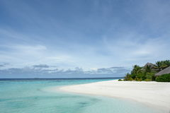 White beach. Beach at an island resort in the Maldives stock image