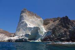 White Beach. Akrotiri. Santorini Stock Photos