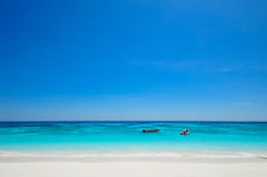 White Beach and Blue Ocean with  Blue Sky at Tachai Island Thail. White Beach and Blue Ocean with  Blue Sky at Island Thailand Stock Image
