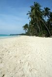 white beach blue sky boracay island background Royalty Free Stock Images