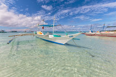 Bunka boat at white beach  Royalty Free Stock Photography