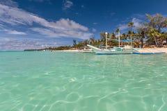 White beach boat station Stock Image