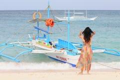 White beach, Boracay Island, Philippines Royalty Free Stock Image